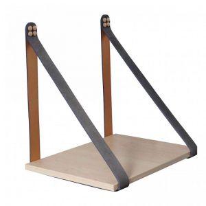 Grey Suede Strap Sidetable | Nordic