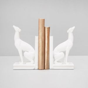 Greyhound Bookends White | White Moose