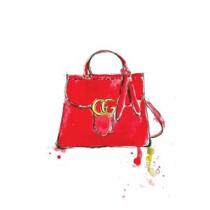 Gucci Red Bag | Limited Edition Unframed Print