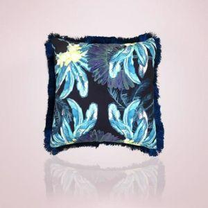 Gypsy Palm Cushion | 45cm Aqua Pink