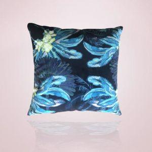 Gypsy Palm Cushion   60cm Aqua Pink
