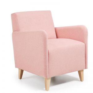 Haddie Upholstered Armchair | Blush Pink