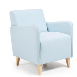 Haddie Upholstered Armchair | Light Blue