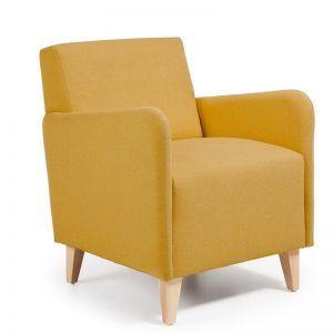 Haddie Upholstered Armchair | Mustard