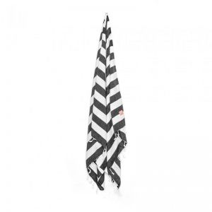 HAF Bath & Beach Towel | Black & White