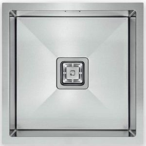 Hafele Squareline Single Bowl Sink Linen | Stainless Steel