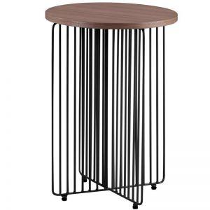 Hagen Side Table | Walnut + Black | Modern Furniture