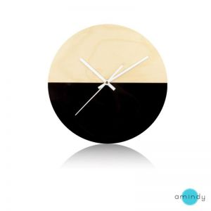 Half Moon Clock by Amindy | Melbourne Night (black) | Various Sizes