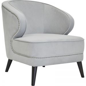 Hallie Studded Occasional Chair | Grey