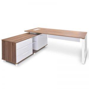 Halo Executive Office Desk with Left Return   Walnut   1.8m