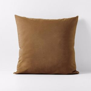 Halo Organic Cotton European Pillowcase | Tobacco