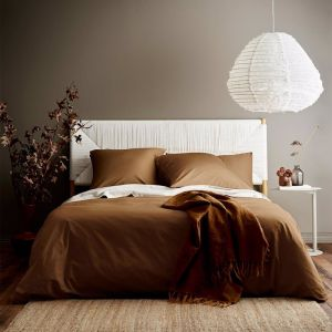 Halo Organic Cotton Quilt Cover | Tobacco | by Aura Home