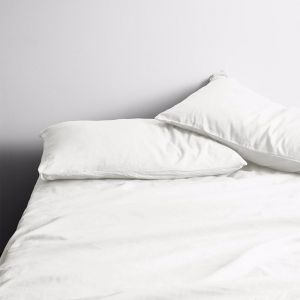 Halo Organic Sheet Set | White | by Aura Home