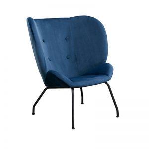 Halo Wingback Armchair | Midnight Blue