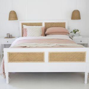 Hamilton Cane Bed | King Size | White