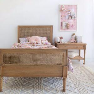 Hamilton Cane Bed | Single | Weathered Oak