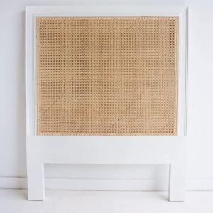 Hamilton Cane Bedhead | King Single Size | White