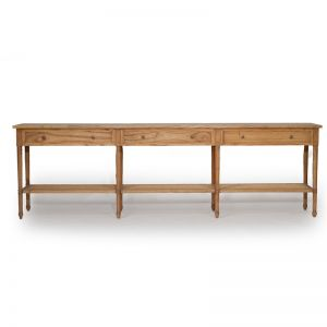 Hamilton Wide Console Table | Weathered Oak | 280cm