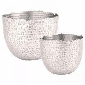 Hammered Bowl Set of 2   Silver