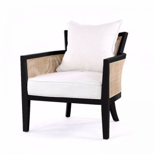 Hampton Club Chair | Black | by Black Mango