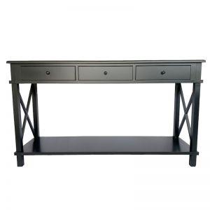 Hampton Large Console Black | 150cm