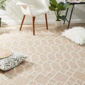 Hampton Lattice Wool | Cotton Blend Rug | Nude
