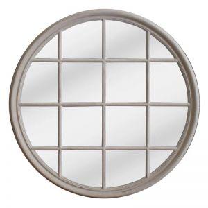 Hamptons Round Mirror | Chalk white