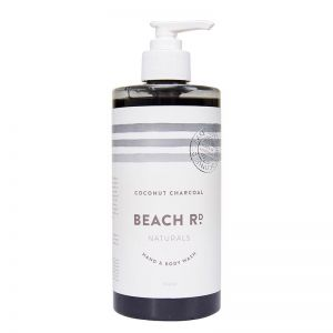 Hand & Body Wash | Coconut Charcoal | 500ml | by Beach Road Naturals