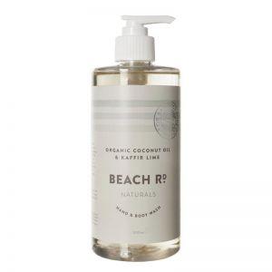 Hand & Body Wash | Organic Coconut Oil & Kaffir Lime Oil | 500ml | by Beach Road Naturals