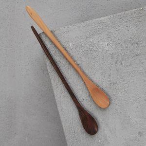 Hand Carved 20cm Sapodilla Long Slim Spoon