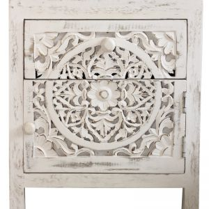 Hand Carved Bedside Table | by Raw Decor