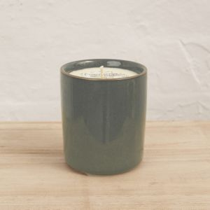 Hand Poured Soy Candle in Ceramic Cup | Cucumber, Mint & Lime