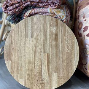 Handcrafted Oak Serving Board Round