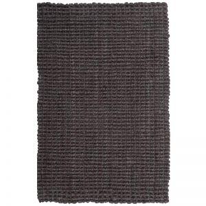 Handmade Chunky Jute Boucle Rug Latex Backed | Dark Grey