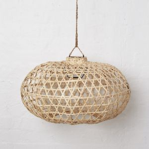 Handwoven Bamboo Short Lampshade in Natural l Pre Order