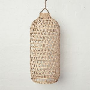 Handwoven Bamboo Tall Lampshade in Natural l Pre Order