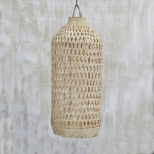 *Handwoven Bamboo Tall Lampshade in Natural - delivery Oct/Nov 2019