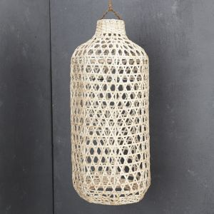 *Handwoven Bamboo Tall Lampshade in Whitewash - delivery Oct/Nov 2019