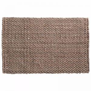 Handwoven Basket Weave Silver Jute Mat | Entrance Mat | Non-Slip