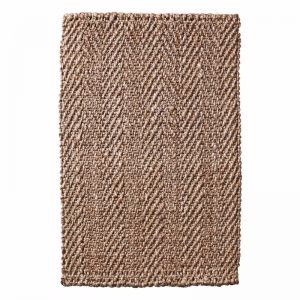 Handwoven Herringbone Weave Natural Jute Entrance Mat-Non Slip