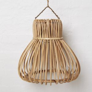 Handwoven Rattan Bell Light Shade
