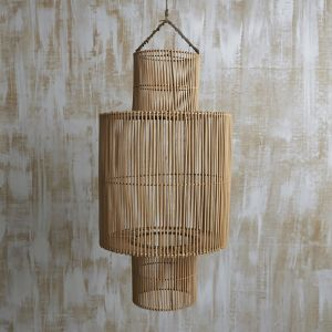 Handwoven Rattan Natural Cylindrical Light Shade l Pre Order