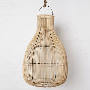 Handwoven Rattan Natural Drop Light Shade l Pre Order