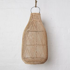 Handwoven Rattan Natural Tear Drop Light Shade l Pre Order