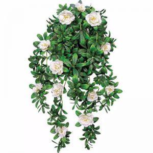 Hanging White Rose Stem | UV Resistant | 85cm