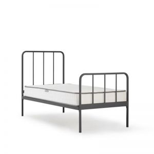 Happy Camper Single Metal Bed | Grey