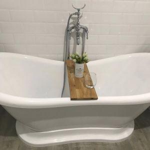 Hardwood Bath Caddy | Light