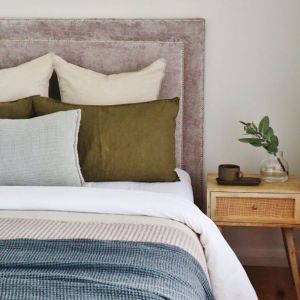 Harper Upholstered Bedhead   Various Colours and Sizes   Custom Made by Bedsahead