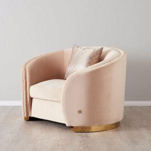 Harriet Occasional Chair | Velvet | Cream