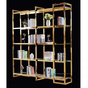 Harriott Rectangle Large Open Metal Bookshelf | Customisable